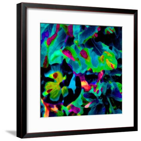 Blooming Blue Abstract-Ruth Palmer-Framed Art Print