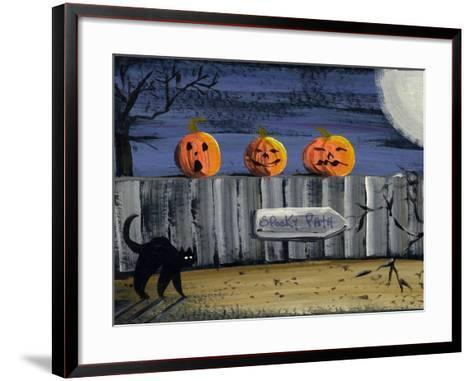 Spooky Path Jack O Lantern Pumpkins-sylvia pimental-Framed Art Print