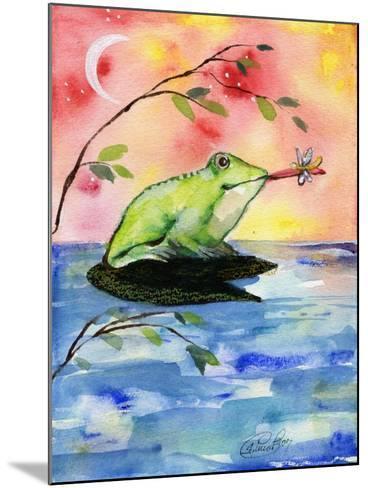 Mr Bullfrog With Firefly-sylvia pimental-Mounted Art Print
