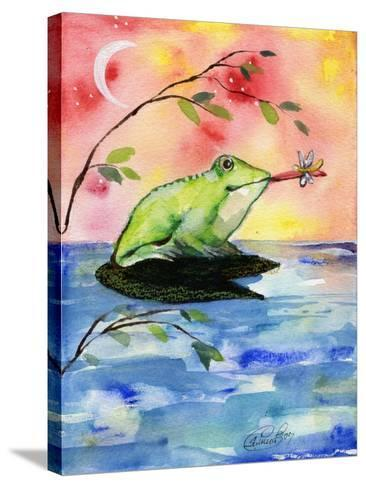 Mr Bullfrog With Firefly-sylvia pimental-Stretched Canvas Print