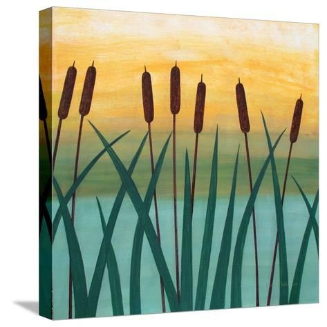 By The River-Herb Dickinson-Stretched Canvas Print