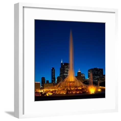 Buckingham Fountain Nightlight Chicago-Steve Gadomski-Framed Art Print
