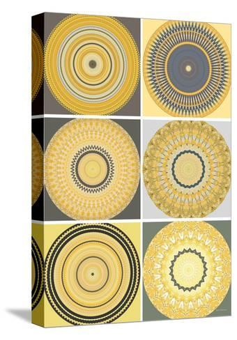 Yellow Love Collage-Herb Dickinson-Stretched Canvas Print