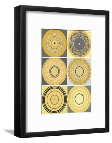 Yellow Love Collage-Herb Dickinson-Framed Art Print