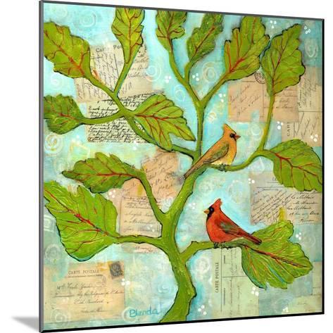 Cardinal Love Notes-Blenda Tyvoll-Mounted Art Print