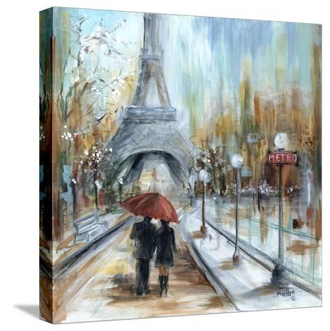 Paris Lovers I-Marilyn Dunlap-Stretched Canvas Print