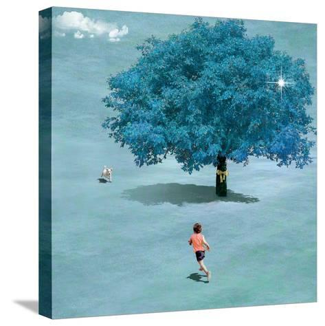 Meeting In Heaven-Nancy Tillman-Stretched Canvas Print