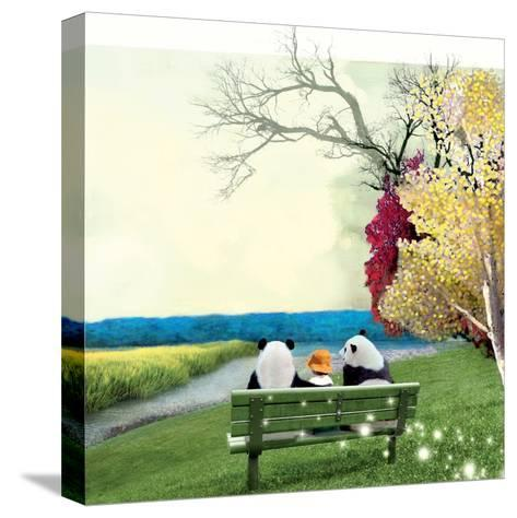 Sitting With Pandas-Nancy Tillman-Stretched Canvas Print