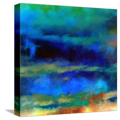 What a Color Art Series Abstract X-Ricki Mountain-Stretched Canvas Print