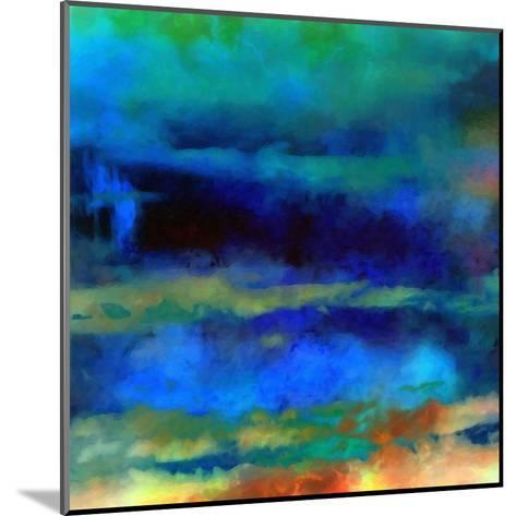 What a Color Art Series Abstract X-Ricki Mountain-Mounted Art Print