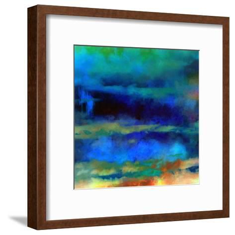 What a Color Art Series Abstract X-Ricki Mountain-Framed Art Print