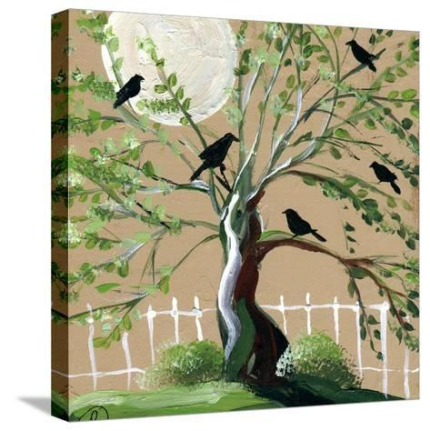 Country Crows-sylvia pimental-Stretched Canvas Print