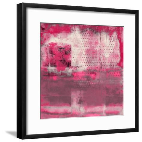 What a Color Art Series Abstract V-Ricki Mountain-Framed Art Print