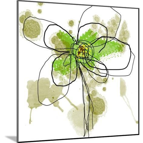 Liquid Green Flower-Jan Weiss-Mounted Art Print