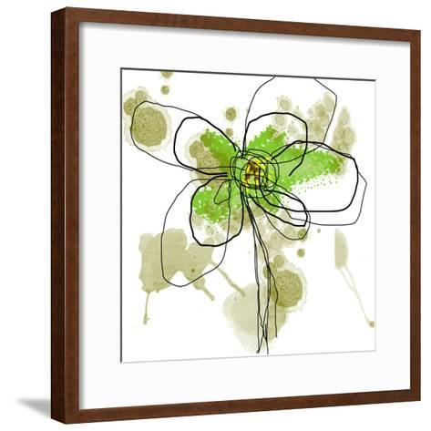 Liquid Green Flower-Jan Weiss-Framed Art Print