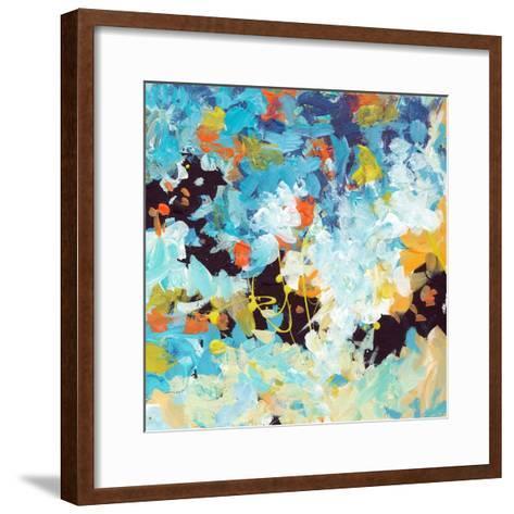 Lunar Freefall 2-Jan Weiss-Framed Art Print