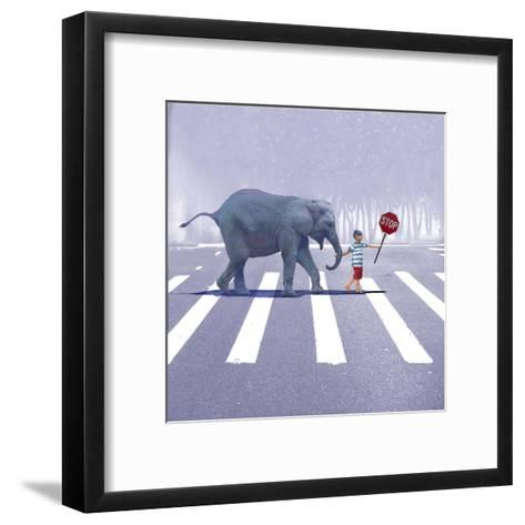 Elephant Crossing-Nancy Tillman-Framed Art Print