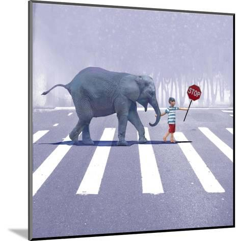 Elephant Crossing-Nancy Tillman-Mounted Art Print