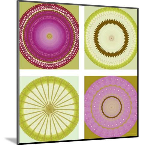 Circle Love Collage-Herb Dickinson-Mounted Art Print