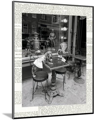 Barking at the Waiter with Newsprint-Jim Dratfield-Mounted Photo