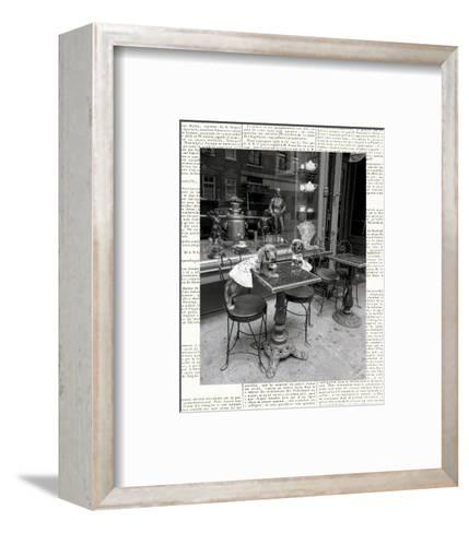 Barking at the Waiter with Newsprint-Jim Dratfield-Framed Art Print