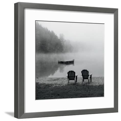 Contemplating the Morning Mist Crop-Carla Kimball-Framed Art Print
