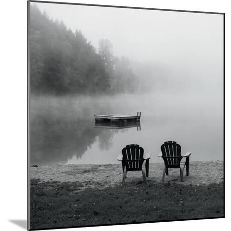 Contemplating the Morning Mist Crop-Carla Kimball-Mounted Photo