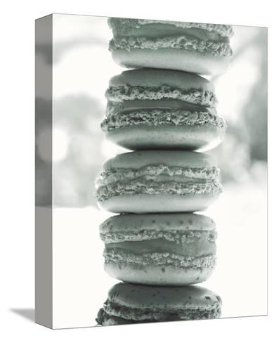 Paris Macaroons BW-Marc Olivier-Stretched Canvas Print