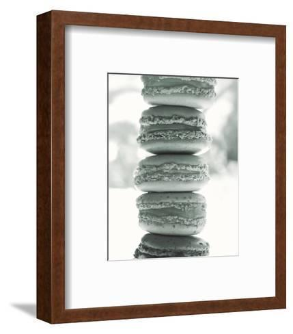 Paris Macaroons BW-Marc Olivier-Framed Art Print
