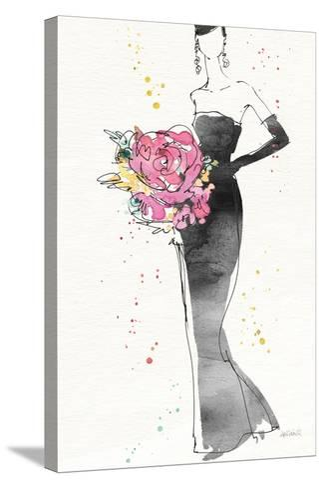 Floral Fashion III v2-Anne Tavoletti-Stretched Canvas Print