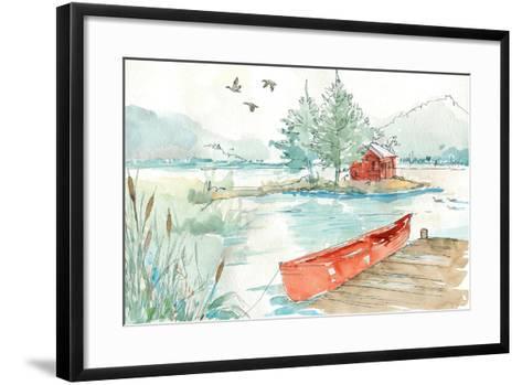 Lakehouse II Red-Anne Tavoletti-Framed Art Print