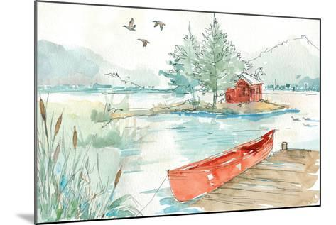 Lakehouse II Red-Anne Tavoletti-Mounted Art Print