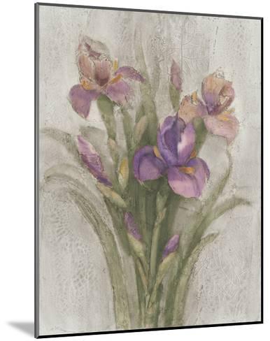 Purple Iris Garden on Grey-Albena Hristova-Mounted Art Print