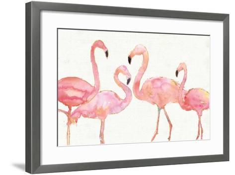 Flamingo Fever I no Splatter-Anne Tavoletti-Framed Art Print