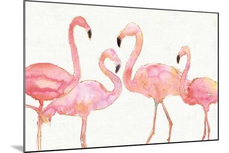 Flamingo Fever I no Splatter-Anne Tavoletti-Mounted Art Print