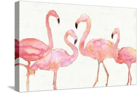 Flamingo Fever I no Splatter-Anne Tavoletti-Stretched Canvas Print