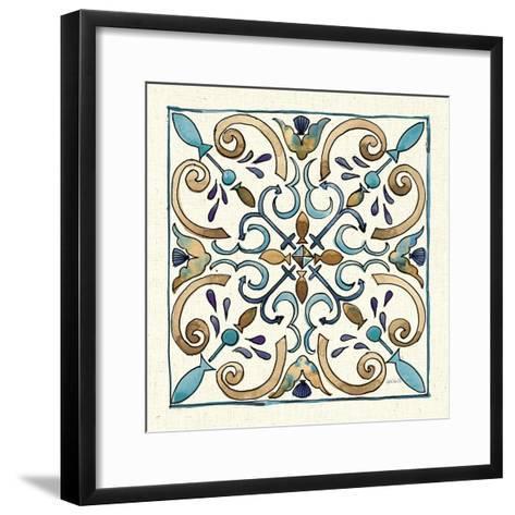 Coastal Breeze Tile I-Anne Tavoletti-Framed Art Print