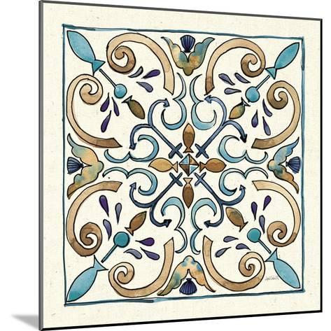 Coastal Breeze Tile I-Anne Tavoletti-Mounted Art Print