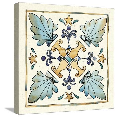 Coastal Breeze Tile III-Anne Tavoletti-Stretched Canvas Print