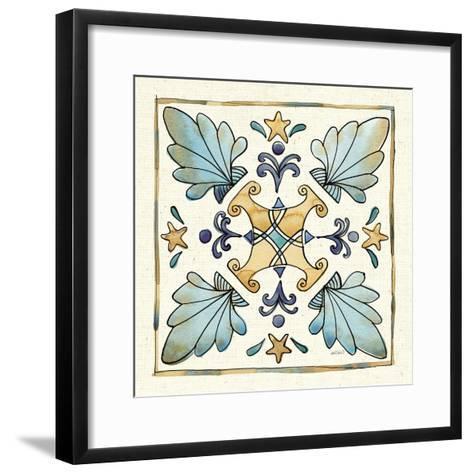 Coastal Breeze Tile III-Anne Tavoletti-Framed Art Print