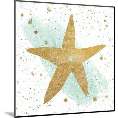 Silver Sea Life Aqua Starfish-Wild Apple Portfolio-Mounted Art Print
