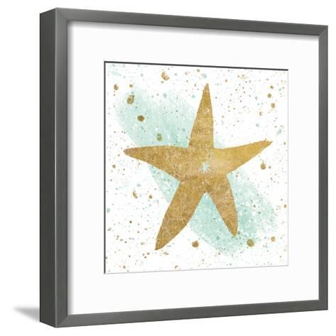 Silver Sea Life Aqua Starfish-Wild Apple Portfolio-Framed Art Print