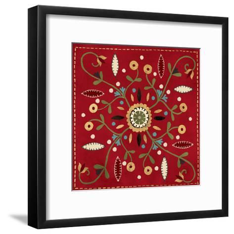 Festive Tiles IV Red WAL - PILLOW-Anne Tavoletti-Framed Art Print