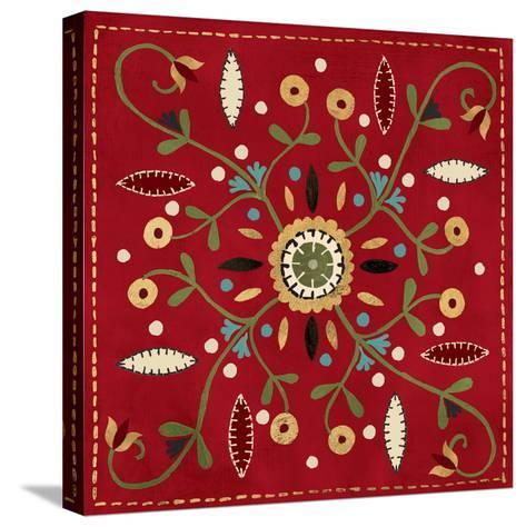 Festive Tiles IV Red WAL - PILLOW-Anne Tavoletti-Stretched Canvas Print