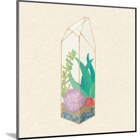 Succulent Terrarium I-Wild Apple Portfolio-Mounted Art Print