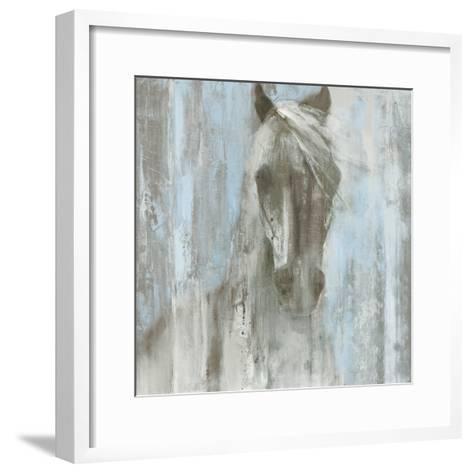 Shadow Light v.2 on Blue-Albena Hristova-Framed Art Print