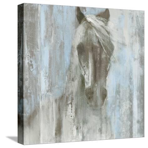 Shadow Light v.2 on Blue-Albena Hristova-Stretched Canvas Print