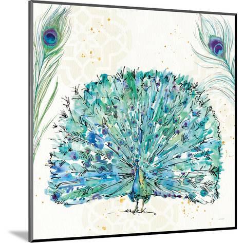Peacock Garden IX Purple Square no Words-Anne Tavoletti-Mounted Art Print