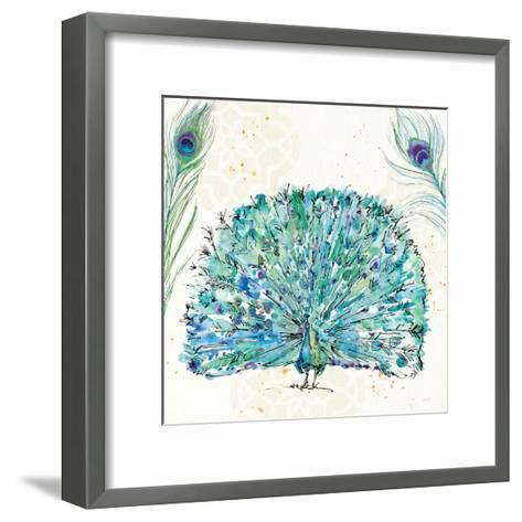 Peacock Garden IX Purple Square no Words-Anne Tavoletti-Framed Art Print