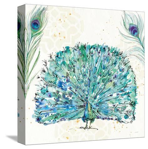 Peacock Garden IX Purple Square no Words-Anne Tavoletti-Stretched Canvas Print